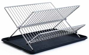 Foldable Stainless Steel Dish Rack