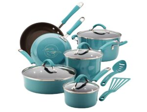 rachael ray cucina 12-pc hard-anodized nonstick cookware set