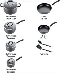T-Fal E765SC Ultimate Hard Anodized Cookware Set